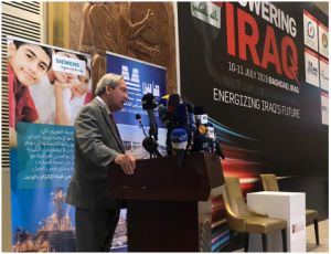 Ambassador Tueller at the 2019 Powering Iraq Conference %D9%85%D8%A4%D8%AA%D9%85%D8%B1-%D8%A7%D9%84%D8%B7%D8%A7%D9%82%D8%A9-1-300x230